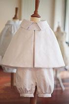 Cape baptême Adrien coton blanc