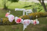 Couronne fleurs cheveux enfant cérémonie mariage Juliette