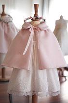 Cape bébé lainage rose