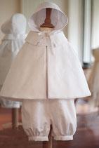 Bonnet de baptême Adrien coton blanc