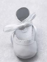 Ballerines fille cuir blanc