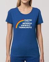 T-Shirt klassisch in blau mit Partei-Logo (tailliert)