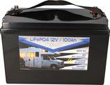 LiFePO4 Akku 12V (12,8V) 100Ah inkl. Bluetooth Pro Ultimate Batterie