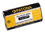 Akku f. Kodak Klic-8000 Easyshare Z1012 IS Z1085 IS Z1485 IS Z612 Z712