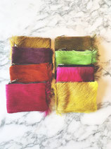 Kleine zakjes met rits in springbok gekleurd - 11 x 8,5 cm