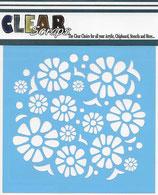 Clear Scraps - Mascils - 30 cm x 30 cm - Flower Power