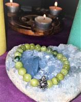 bracelet jade vert bouddha