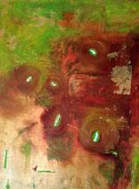 S.Wood Schilderij mixed media op doek