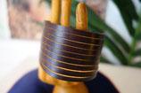 extra Breites Leder-Armband AB-01