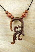 Holz Halskette Dra-105.21 c