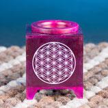 Duftöl Lampe Blume des Lebens violet
