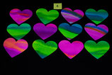 12 Water colour Hearts