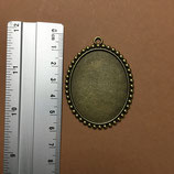 Big oval pendant 57mm x 43mm S056