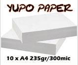 Yupo paper 10 sheets/ 10 vel 235gr A4