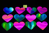 12 Watercolour hearts