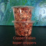 Copper leaf flakes / Blad Koper snippers ( imitatie / imitation )