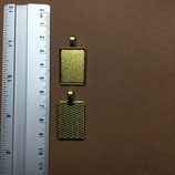 Gold setting 20 mm x 25 mm S050