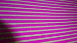 Bündchen  pink / hellgraue  Streifen