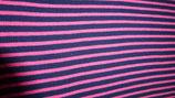 Bündchen pink / dunkelblau Streifen