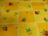 gelb - orange KARO  mit Obst