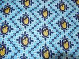 blau blümig mit gelben Eichhörnchen
