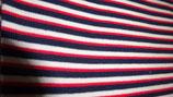 Bündchen rot / weiß /dunkelblau   Streifen
