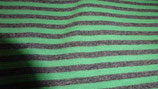 Bündchen  grau / grün  Streifen