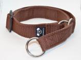 Größe M-Zugstopphalsband mit einer Gurtbandbreite von  25 mm.