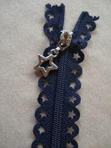Reißverschluss, blau