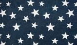 Fleece Sterne, blau