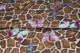 Zebra Muster mit Schmetterlingen