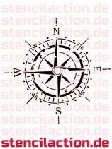 Schablone - Kompass - Shabby