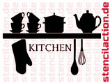 Schablone - Küchenregal - Shabby
