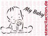 "Schablone - ""My Baby"" 27x17cm"