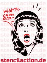 Schablone - Scream Girl OMG Mädchen
