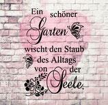 Schablone - Garten & Seele