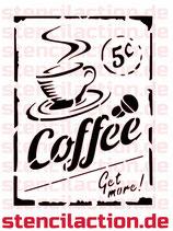 Schablone - Coffee - Get more! - 26x18 cm