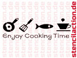 Schablone - Cooking Time - Shabby
