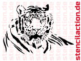 Schablone - Tiger