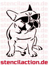 Schablone - Bulldog Hund Tier