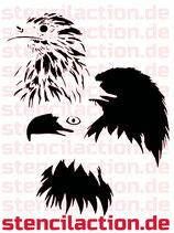 Schablone - Eagle Adler - Multilayer