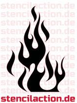 Schablone - Flames Flammen Feuer - 28x16 cm