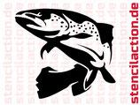 Schablone - Forelle Fisch Tier