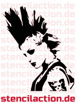 "Schablone - Punk ""Streets of London"""