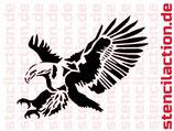 Schablone - Adler