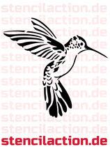 Schablone - Kolibri