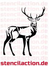 Schablone - Hirsch Tier