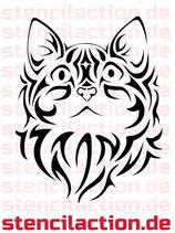 Schablone - Cat Face Tribal