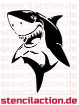 Schablone - Hai Haifisch