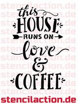 Schablone - Love and Coffee - 27x16 cm